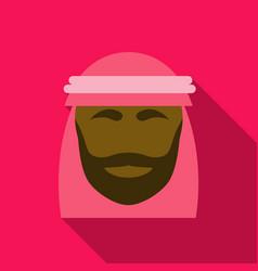 Portrait of an arab man arabian shekih vector