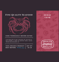 premium quality seafood abstract crab vector image