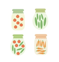 Preserve vegetables in jar vector image