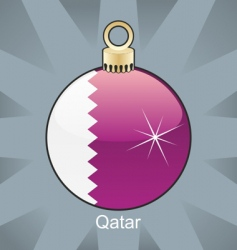 Qatar flag on bulb vector image