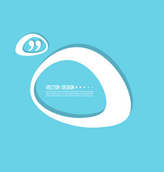 quotation mark speech bubble vector image