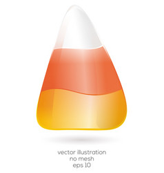 Realistic halloween candy corn isolated on white vector
