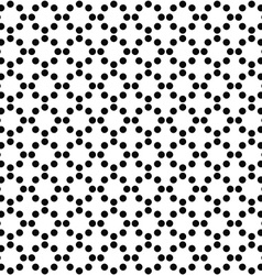 Repeating monochrome circle pattern background vector image
