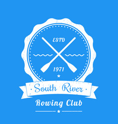 rowing club vintage logo emblem sign vector image