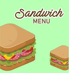 Sandwich menu sandwich background image vector