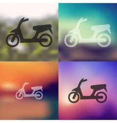 Scooter icon on blurred background vector
