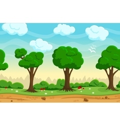 Seamless cartoon game landscape vector