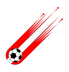 soccer ball with the flag of peru vector image