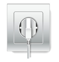socket and plug with wire electricity isolated vector image