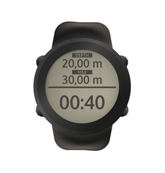 sport watch for diving dive computer vector image