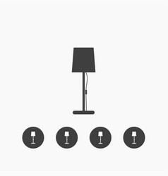 stand lamp icon simple vector image