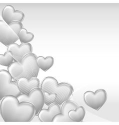 Stylish beautiful valentine day heart background vector image