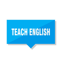 Teach english price tag vector