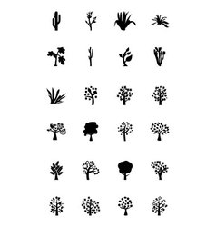 Trees Icons 4 vector
