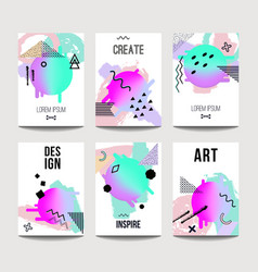 trendy brochure templates with chaotic flat vector image