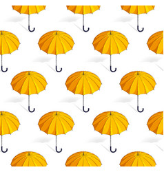 umbrellas seamless background weather and vector image