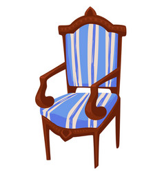 Vintage furniture chair with carvings and decor vector