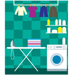 Washing room vector image