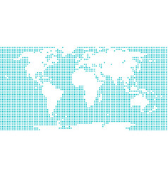 world map atlas dot circle vector image