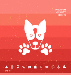 Dog paw - logo symbol protect sign vector