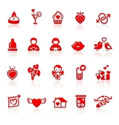 Set valentines day vector image