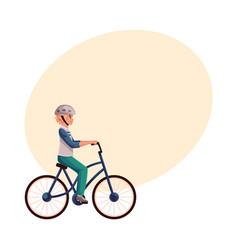 Teen boy teenager riding urban bicycle cycling vector