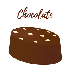 3d realistic chocolate candy cocoa product vector image