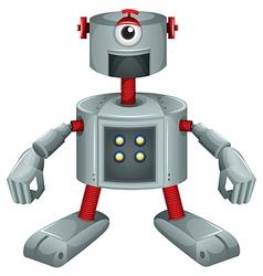 A grey robot vector image vector image