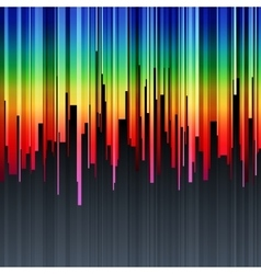 Abstract vertical infographics rainbow gradient vector image vector image