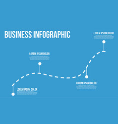 Business infographic line chart vector