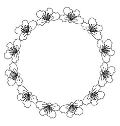 circular frame deoration floral vector image vector image