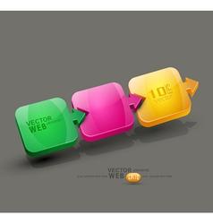 colored arrows design element vector image