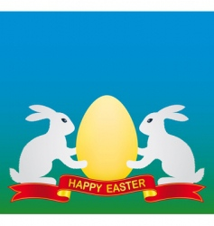 Easter bunny and egg vector image