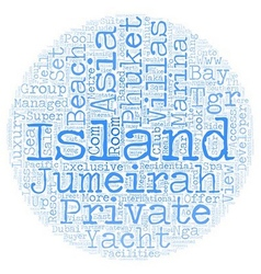 Jumeirah private island phuket text background vector image