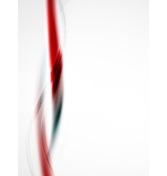 Red wave abstract background vector image