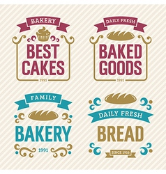 Vintage bakery labels vector