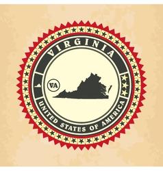Vintage label-sticker cards of Virginia vector image