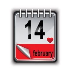Calendar for February 14 vector image