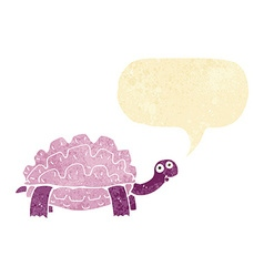 cartoon tortoise with speech bubble vector image