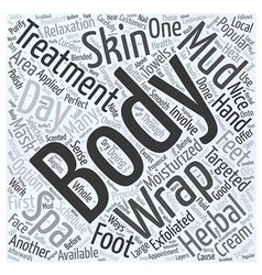 Day Spas Popular Body Treatments Word Cloud vector image