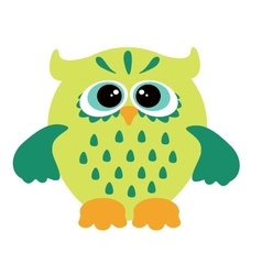 a funny character owl vector image
