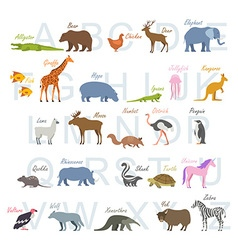 animal alphabet letters vector image