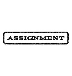 assignment watermark stamp vector image