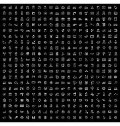 black 400 universal web icons set vector image