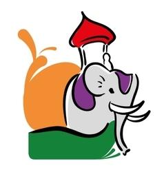 decorated elephant festival india design vector image