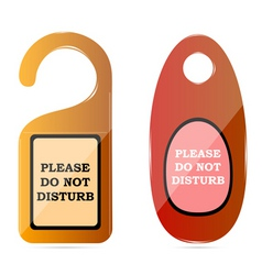 do not disturb tags vector image