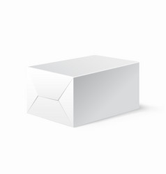 realistic white locked box mock up template vector image