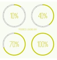 Round loader bar vector image vector image