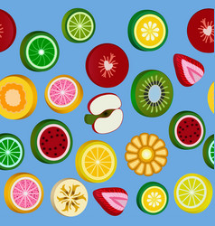 Seamless background with bright fruit candy vector