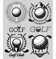 set of patterns badges for golf vector image